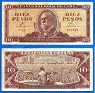 Cuba 10 Pesos 1961 Signature Che Guevara Centavos Centavo Pesos Billet Skrill Bitcoin OK - Cuba