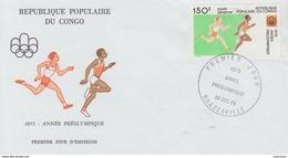 Enveloppe   FDC  1er  Jour   CONGO   Année  Préolympique    Jeux  Olympiques   MONTREAL    1976 - Estate 1976: Montreal