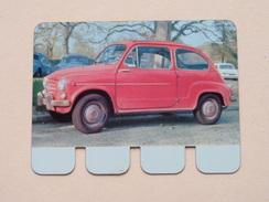 FIAT 600 D - Coll. N° 73 NL/FR ( Plaquette C O O P - Voir Photo - IFA Metal Paris ) ! - Advertising (Porcelain) Signs