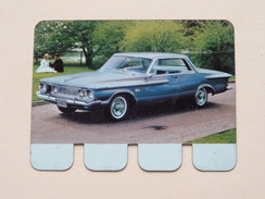 PLYMOUTH FURY 1962 - Coll. N° 87 NL/FR ( Plaquette C O O P - Voir Photo - IFA Metal Paris ) ! - Plaques Publicitaires