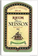 Etiquette  RHUM  Agricole  NEISSON - 50° 100cl - Coeur De Chauffe  -  Domaines Thieubert, Carbet - MARTINIQUE - - Rhum