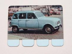 RENAULT 4 L 1963 - Coll. N° 92 NL/FR ( Plaquette C O O P - Voir Photo - IFA Metal Paris ) ! - Plaques Publicitaires