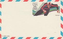 Carte    Entier   Postal    U.S.A   Jeux  Olympiques   1984 - Invierno 1984: Sarajevo