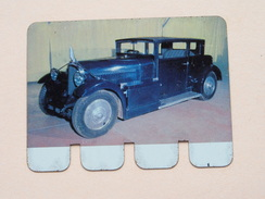 VOISIN TYPE CARENE 1932 - Coll. N° 100 NL/FR ( Plaquette C O O P - Voir Photo - IFA Metal Paris ) ! - Advertising (Porcelain) Signs
