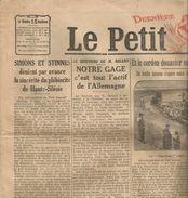 Le PETIT JOURNAL , 18 Mars 1921, Dernière édition , Frais Fr : 1.95 E - Le Petit Journal