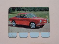 SIMCA 1000 COUPE BERTONE - Coll. N° 1 NL/FR ( Plaquette C O O P - Voir Photo - IFA Metal Paris ) ! - Tin Signs (after1960)