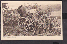 B25 /  Der Krieg In Postkarten 1914 Deutsche Kanonen / Die Falsche Dicke Bertha Berta Tarnung RAR - War 1914-18