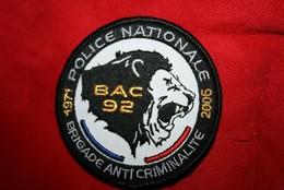 Ancien écusson BAC 92  Anniversaire - Police & Gendarmerie