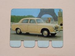 PEUGEOT 403 - Coll. N° 6 NL/FR ( Plaquette C O O P - Voir Photo - IFA Metal Paris ) ! - Plaques Publicitaires