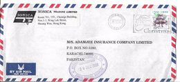 Hong Kong Airmail Cover Slogan Cancellation $2.50 Christmas - Cartas