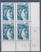 = Sabine De Gandon D'après Une Oeuvre De Louis David Bloc De 4 Daté N°1966 Neuf 14.3.78 - 1970-1979
