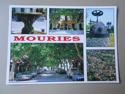 BOUCHES-DU-RHONE MOURIES LA FONTAINE LA MAIRIE LE MOULIN VUE AERIENNE ET LE COURS - Other Municipalities