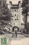 FRIBOURG La Porte De Morat.Attelage De Chien - FR Fribourg