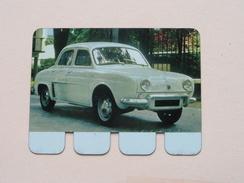 RENAULT DAUPHINE - Coll. N° 34 NL/FR ( Plaquette C O O P - Voir Photo - IFA Metal Paris ) ! - Plaques En Tôle (après 1960)