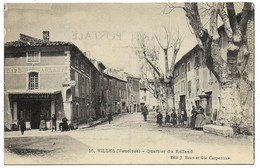 A1 84 VILLES SUR AUZON Quartier Du Rolland N'a Pas Circulé - Autres Communes