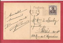 Y&T N° 101 WIESBADEN  Vers  FRANCE  1906  2 SCANS - Deutschland