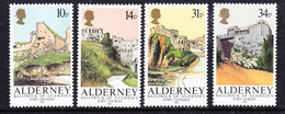 Alderney 1986 Alderney Forts 4v  ** Mnh (37001) Promotion - Alderney