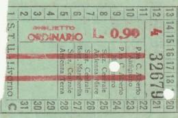 BIGLIETTO STU LIVORNO L 0,90 (UB141 - Europa
