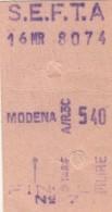 BIGLIETTO SEFTA MODENA (UB206 - Europa