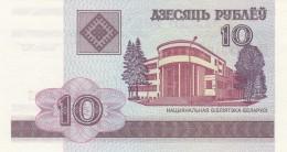 BIELORUSSIA 10 RUBLI -UNC - Belarus