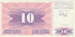 BOSNIA ERZEGOVINA 10 DINARA -UNC - Bosnia Erzegovina
