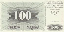 BOSNIA ERZEGOVINA 100 DINARA -UNC - Bosnia Erzegovina