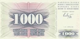 BOSNIA ERZEGOVINA 1000 DINARA -UNC - Bosnia Erzegovina