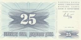 BOSNIA ERZEGOVINA 25 DINARA -UNC - Bosnia Erzegovina