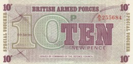 BRITISH ARMED FORCES 10 PENCE -UNC - Forze Armate Britanniche & Docuementi Speciali