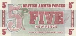 BRITISH ARMED FORCES 5 OENCE -UNC - Forze Armate Britanniche & Docuementi Speciali