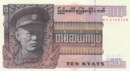 BURMA 10 KYATS -UNC - Myanmar