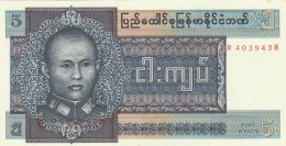 BURMA 5 KYATS -UNC - Myanmar