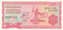 BURUNDI 20 FRANCS -UNC - Burundi