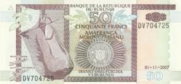BURUNDI 50 FRANCS -UNC - Burundi
