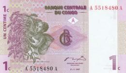 CONGO 1 CENTIME -UNC - Republic Of Congo (Congo-Brazzaville)