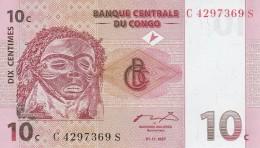 CONGO 10 CENTIMES -UNC - Republic Of Congo (Congo-Brazzaville)