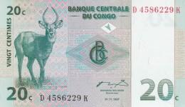 CONGO 20 CENTIMES -UNC - Republic Of Congo (Congo-Brazzaville)