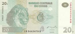 CONGO 20 FRANCS -UNC - Congo