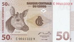 CONGO 50 CENTIMES -UNC - Republic Of Congo (Congo-Brazzaville)