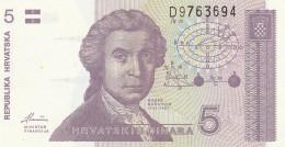 CROAZIA 5 DINARA -UNC - Croatie