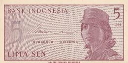 INDONESIA 5 SEN -UNC - Indonésie