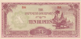 JAPANESE GOVERNEMENT 10 RUPEES -UNC - Giappone