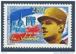 """Timbre FR YT 2944 """" La Victoire, Gal De Gaulle """" 1995 Neuf** - France"""