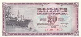 JUGOSLAVIA 20 DINARA -UNC - Jugoslavia