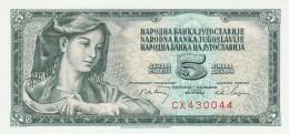 JUGOSLAVIA 5 DINARA -UNC - Jugoslavia