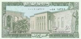 LIBANO 5 LIVRES -UNC - Libano