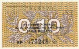 LITUANIA 0,10 TALONAS -UNC - Lithuania