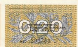 LITUANIA 0,20 TALONAS -UNC - Lituania
