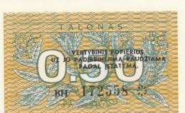 LITUANIA 0,50 TALONAS -UNC - Lituania