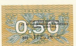 LITUANIA 0,50 TALONAS -UNC - Lituanie